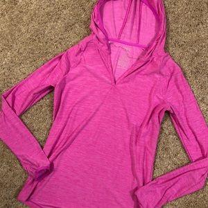 Pink Athletic Light Jacket with Thumbholes
